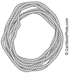 Rope skein illustration - Illustration of the rope skein