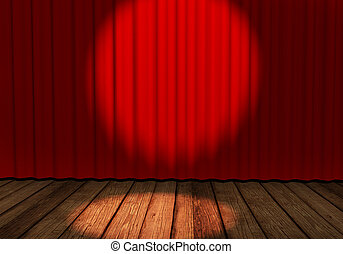 Empty stage - Stage with red curtain