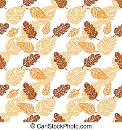 Seamless background with leaves - Seamless background with...