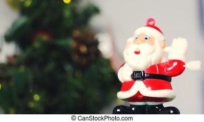Christmas Santa Claus toy - Santa toy next to the Christmas...
