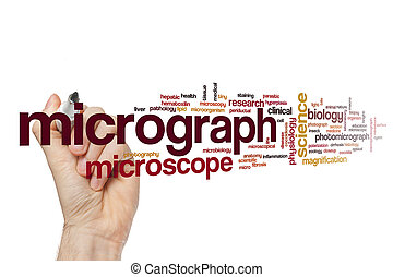 Micrograph word cloud concept