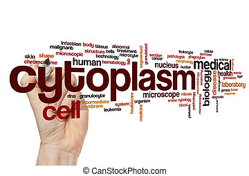 Cytoplasm word cloud concept