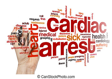 Cardiac arrest word cloud concept - Cardiac arrest word...