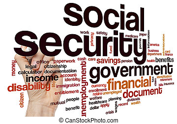 Social security word cloud concept
