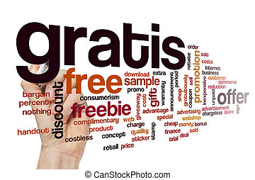 Gratis word cloud concept - Gratis word cloud