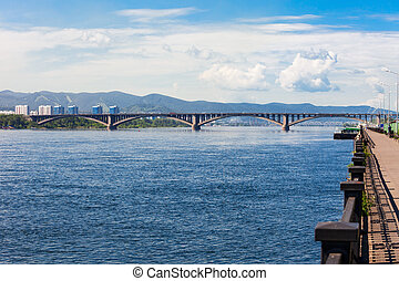 Communal bridge in Krasnoyarsk - Communal bridge is a...