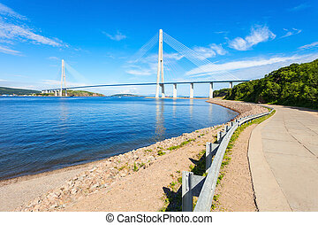 Russky Russian Bridge, Vladivostok - The Russky (Russian...