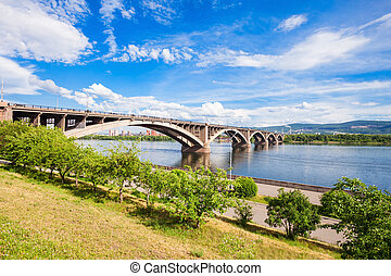 Communal bridge in Krasnoyarsk - Communal bridge is a...