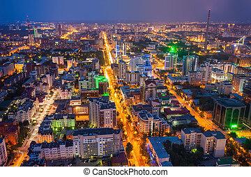 Yekaterinburg aerial panoramic view