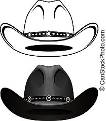 Cowboy Hat is an illustration of a cowboy hat in a simple...