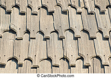 Wooden Roof Background - Background of the Wooden Roof Tiles