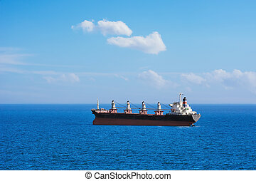 Bulk Carrier Ship - Big Bulk Carrier Ship in the Black Sea