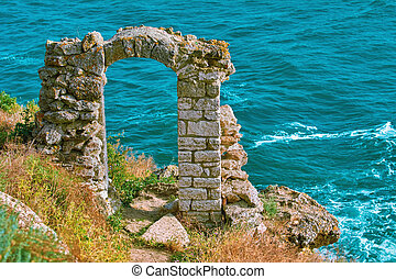 Remains of Fortress - Doorway as Part of the Remains of the...
