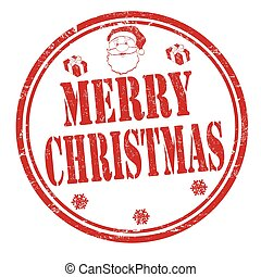 Merry Christmas sign or stamp