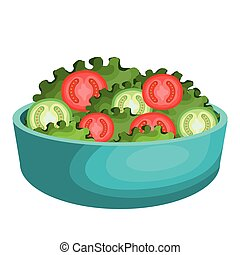 salad plate isolated icon