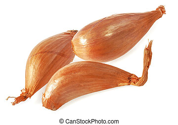 Shallot onions. - Shallot onions isolated on white...