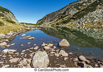 Clean water in small Lake, Rila Mountain, Bulgaria