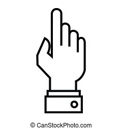 hand human touch isolated icon