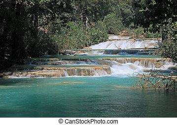 cachoeiras,  Azul,  Agua,  México