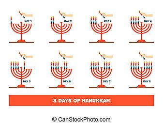 lightning candles for jewish holiday , hanukkah....