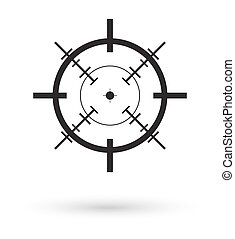 black crosshair icon vector