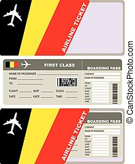Tickets for air travel Belgian - Tickets for air travel. Set...