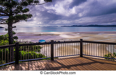 Hill Inlet Lookout at Whitsunday Island, Australia - Hill...