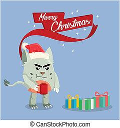 grumpy monster on christmas