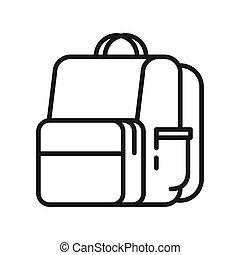 school backpack illustration design