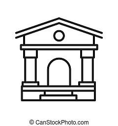university campus illustration design