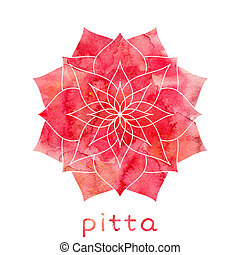 Pitta dosha Ayurvedic body type - Pitta dosha abstract...