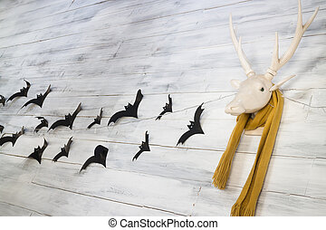 Deer head decoration for Halloween, stock photo