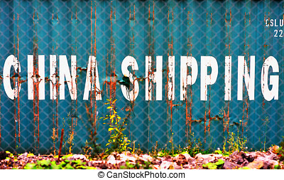 Aqua China delivery container textured background hd