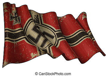 Germanys War Ensign 1938-1945 Grunge - Editorial...