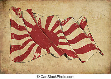 Japan Naval Ensign Historic flag Background Wallpaper -...