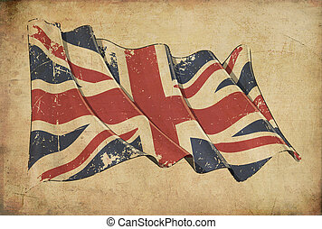 UK Grunge Flag Textured Background Wallpaper