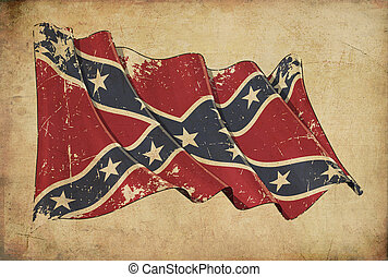 Confederate Rebel Grunge Flag Textured Background Wallpaper...
