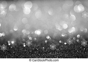 Abstrakcyjny, blask,  bokeh, tło, świąteczny