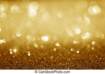 Gold Festive Christmas background. Elegant abstract...
