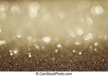 tło, złoty, świąteczny, Elegancki, światła, Abstrakcyjny,...
