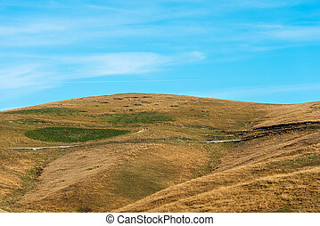 Pastures in Autumn - Plateau of Lessinia Italy - Green and...