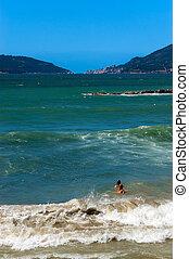 Mediterranean Sea - Gulf of La Spezia italy - The...
