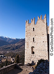 Castle of Arco di Trento - Trentino Italy - Ancient ruins of...
