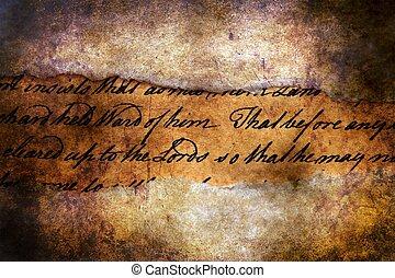 Old letter on grunge background