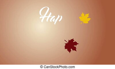 Thanksgiving greeting card with Happy Thanksgiving animation...