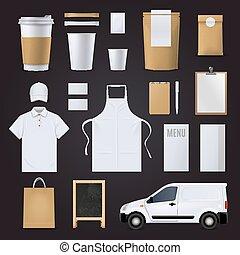 Coffee Corporate Identity Set - Blank coffee corporate...