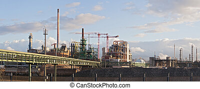 factory building in an industrial area