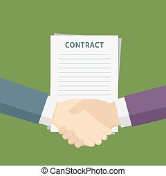 Two People Handshake For The Business Contract - Handshake...