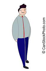 Young business man cartoon