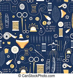 Graphic pattern of elements for sewing